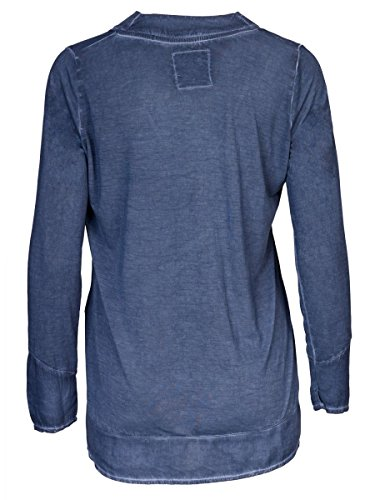 DAILY'S KIM Damen oversize Blusenshirt mit V-Ausschnitt aus 100% Viskose - soziale fair trade Kleidung, Mode vegan und nachhaltig Color midnight, Size S - 2