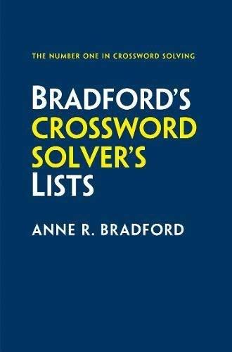 Collins Bradford's Crossword Solver's Lists (English Edition)
