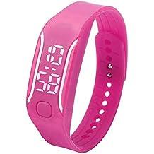 Bestow Moda LED Deportes Correr Reloj LED Reloj Neutral Fecha Pulsera de Goma Reloj de Pulsera