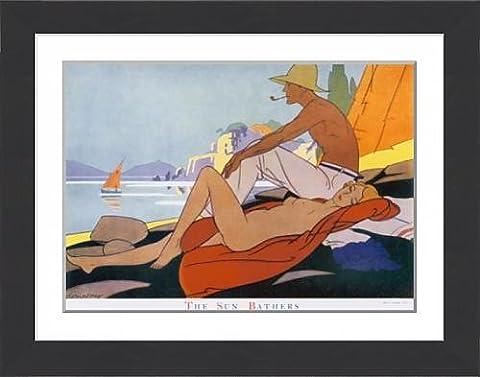 Framed Print of Sun Bathers