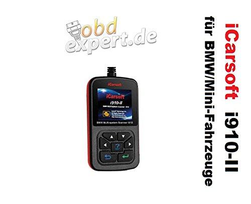 Preisvergleich Produktbild iCarsoft i910-II - BMW Fahrzeuge + ÖL-SERVICE - nur von obdexpert.de