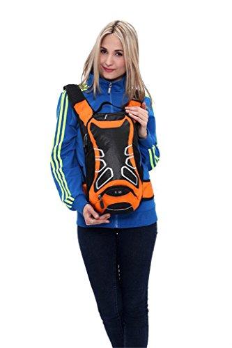 SHTH 15L Wasserdicht Fahrrad Schulter Rucksack Wasser Reisetasche Ultralight für Radsport Outdoor Reiten Bergsteigen Hydration Orange