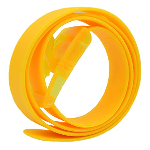 Cinturón amarillo de fiesta para mujer de silicona
