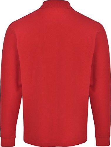 John Shark Herren Poloshirt, Logo Rot