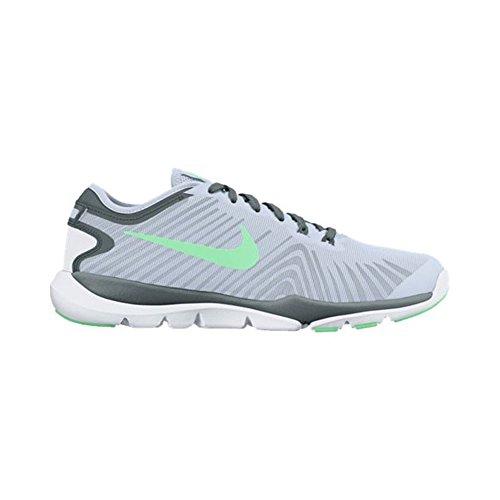 Nike - WMNS  Flex Supreme TR 4, Sneaker Donna Blue Tint/Green Glow/Hasta/White