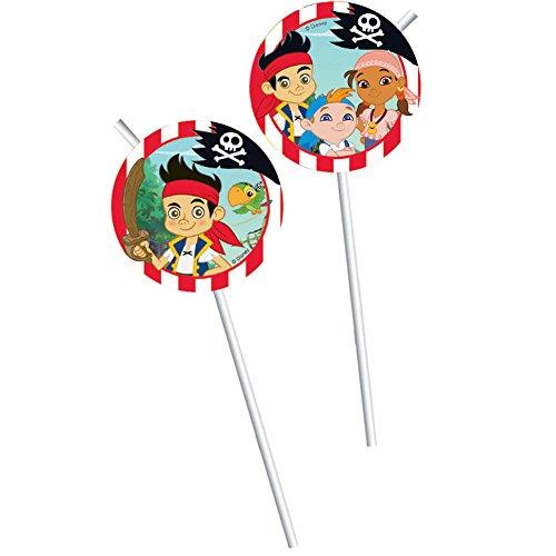 Disney Jake und die Nimmerland Piraten Party Trinkhalme, (Disney Jake Und Die Neverland Piraten)