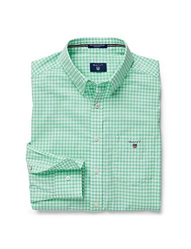 GANT Herren Freizeithemd The Poplin Gingham Check LS BD Green