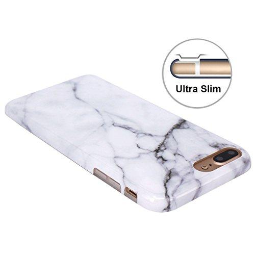 Cover Iphone 7 Plus Custodia Iphone 8 Plus Marmo Leton Tpu Silicone