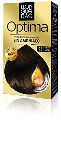 Llongueras Tintura per Capelli, Optima Hair Colour, 200 gr, 5.3-Golden Brown