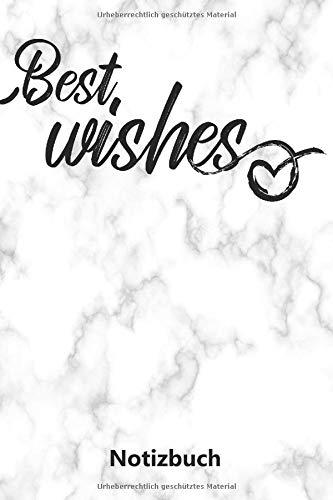Notizbuch: Best Wishes | Weihnachtsspruch (A5 | liniert | 100 Seiten)