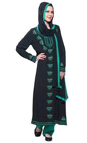 East Essence - Robe - Manches Longues - Femme Noir