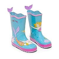 Kidorable Original Branded Mermaid Rubber Rain Boots Wellies for Little Girls Children Toddlers Infants (UK 6)