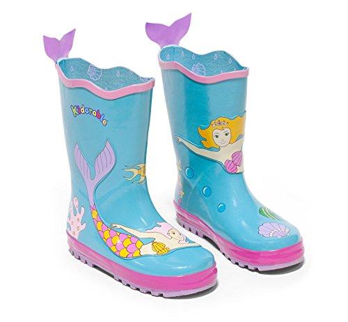 Kidorable Original Gebrandmarkt Gummistiefel / Regen Stiefel Meerjungfrau für Jungen & Mädchen EU 30 (Stiefel Dingo Fashion Leder)