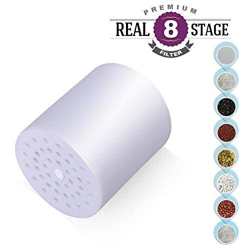 Universal Duschkopf Filter 8 stufige Auswechselbare Filter Kartusche, Teflonband werden, mit jedem Dusche Kopf für entfernen Chlor, Schwermetalle, Schwefel-Geruch- und andere schädliche Substanz -