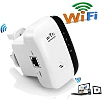 Wifi Repeater Long Range Extender Amplifier 2.4GHz Network Adapter Wireless Mini AP Access Point Dongle IEEE802.11N/G/B Mini AP Signal Booster(300M-New Chip)