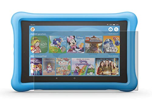 easy-top- Schutzfolie für Amazon Fire HD 8 Kids Edition (8. Generation, 2018) - 2X Antireflex Anti-Shock Bildschirmschutzfolie seidenmatte Antifingerprint Schutz Folie entspiegelte Oberfläche