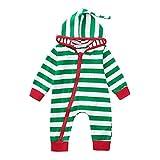 Baby Jungen Mädchen Camouflage Print Kapuzen-Overall Overall Kleidung Outfits Xinantime (3-6Monat, ❤Weihnachten 1)
