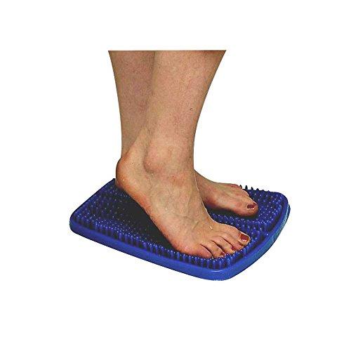 1x Behrend Fußreflexzonen Matte Massagematte Fußmassage Reflexzonen Massage, 33x28cm, blau