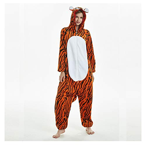 LIUJIE Winter Erwachsene Männer Frauen Unisex Sleepsuit Cosplay Halloween zu Hause Casual Kostüm Stück Pyjamas Outfit Baumwoll-Bademantel Verdickung Pyjamas,XL (Halloween-kostüm Zu Hause)