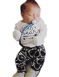 Ropa de bebé, RETUROM Nuevo 1Set Newborn Tops Romper + Pantalones Largos Sombrero 3Pcs Ropa Outfits