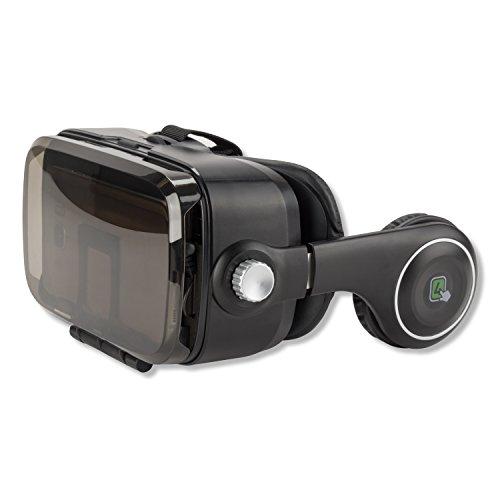 4smarts Spectator SOUND Universal VR-/AR-Brille mit integrierten Kopfhörern für Smartphone bis 15,24 cm (6 Zoll) schwarz