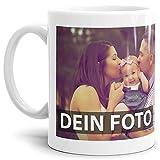 Tasse selbst individuell Gestalten/Personalisierbar mit eigenem Foto Bedrucken/Fototasse / Motivtasse/Werbetasse / Firmentasse mit Logo/Weiss - Glanz