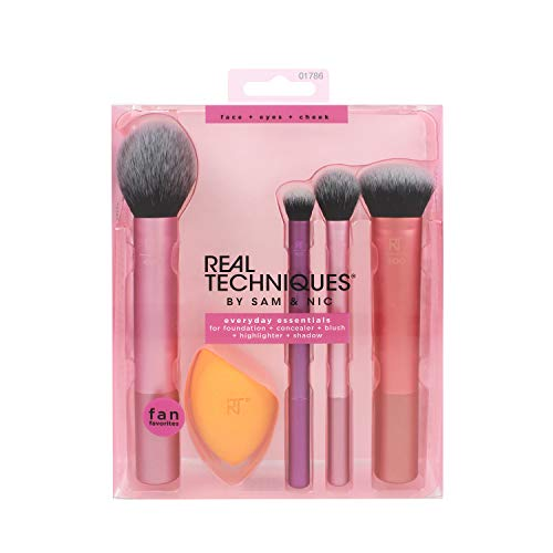 (Real Techniques Everyday Essentials Make-up Pinsel Gesicht komplett Set)