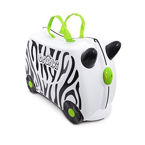 Trunki Maleta correpasillos y equipaje de mano infantil: Zebra Zimba (Blanco)