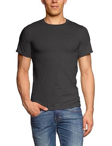 Anvil Men's Basic Cotton Double Stitched Short Sleeve T-Shirt, Charcoal,