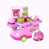 Spielzeuge Xiaomei Kinder Simulation Küche Mobile Speisewagen Kinder Roller (Farbe : Pink)