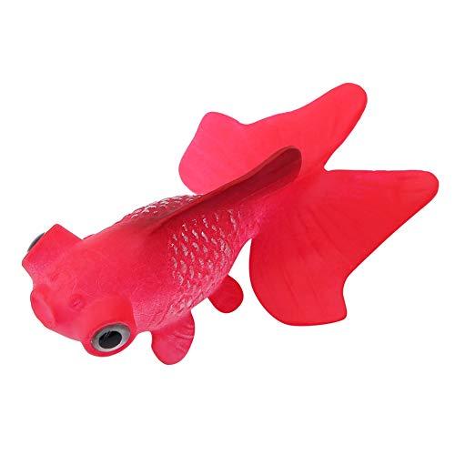 Pssopp Künstliche Fische Silikon Fische Silikon Goldfisch Betta Fisch Lebensechte Künstliche Fische Ornament Schwimmende Fische Aquarium Dekoration Künstliche Bunte Fische (Roter Goldfisch) - Für Fisch Betta Aquarium