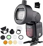 GODOX TT685O TTL-Blitzgerät 2,4 G Hochgeschwindigkeits-Sync 1 / 8000S GN60-Blitzgerät mit AK-R1-Rundkopfzubehör und S-R1-Adapter, kompatibel mit Olympus/Panasonic Lumix-Kameras