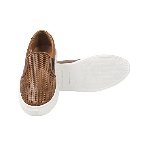 UominiItaliani - Slip-On Chaussures pour hommes Made in Italy - Mod. P05 HANVEN bronzer
