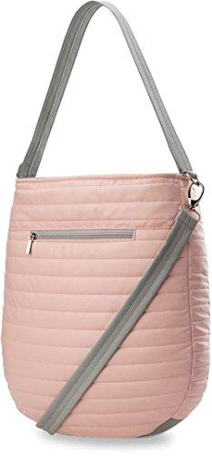 große gesteppte Damentasche Henkeltasche Einkaufstasche (beige) beige