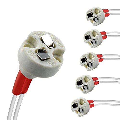 Luxvista LED Bi-Pin Sockel MR11 MR16 G4 G6.35 GY6.35 G5.3 12V-240V Neue Regelung Lampenfassung Halogen Glühlampen Led SockeL (6-Stück) - Bi-pin-halogen-sockel