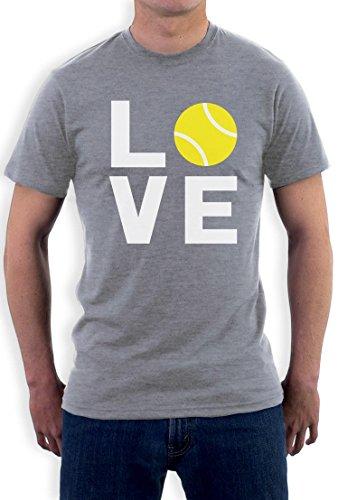 Love Tennis - Sportliches Geschenk TShirt für Tennisfans T-Shirt Grau