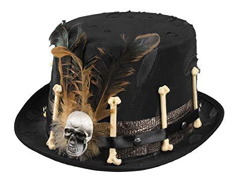 Generique Sombrero de copa vudú negro adulto