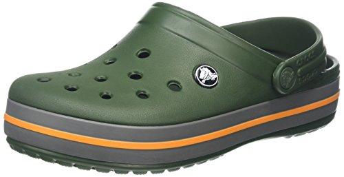 Crocs Crocband, Unisex - Erwachsene Clogs, Grün (Forest Green-Slate Grey), 37/38 EU