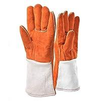 Manches longues gants de protection pour animaux Gants de manipulation pour animaux multifonctionnels anti-morsure de cuir pour chien, chat, égratignure, manipulation d'oiseaux, gants de faucon saisis