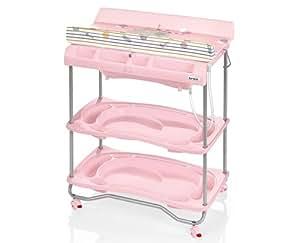 Brevi table langer avec baignoire atlantis gris fuschia jeux et jouets - Table a langer brevi atlantis ...