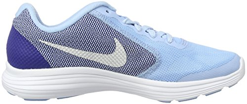 Nike Revolution 3 (Gs), Chaussures de Course Fille Azul (Bluecap / Metallic Silver-Deep Royal Blue)