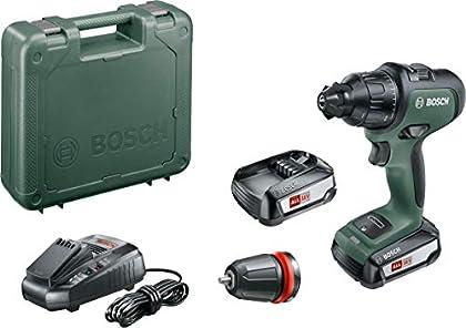 Bosch AdvancedImpact 18 - Taladro percutor a batería(2 baterías 18 V 2,5 Ah, cargador AL 1830 CV, HMI, en maletín)