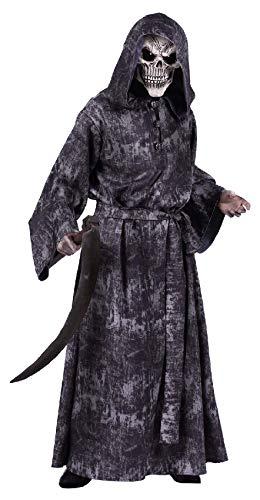 Halloween Dead Kostüm Walking - T2785-L schwarz-grau Walking Dead Herren Halloween Kostüm mit Kapuze Gr.L