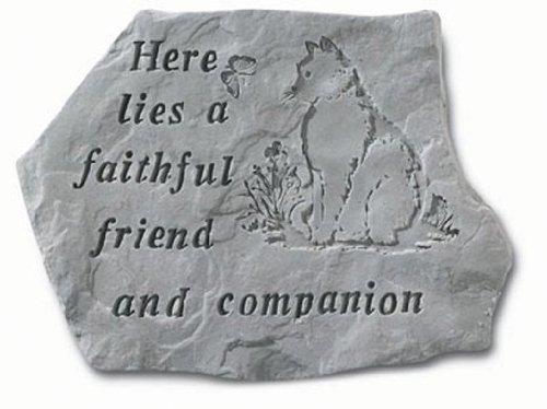 Here Lies A Faithful Friend Pet Memorial Garden Accent Stone - Cat by Kay Berry Inc. -