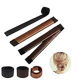Ealicere 3 Stück Bun Haarschmuck, Braun Magic Hair Styling Donut French Bun Maker, Hair Bun Shapers für Frauen Mädchen DIY Frisur Tools