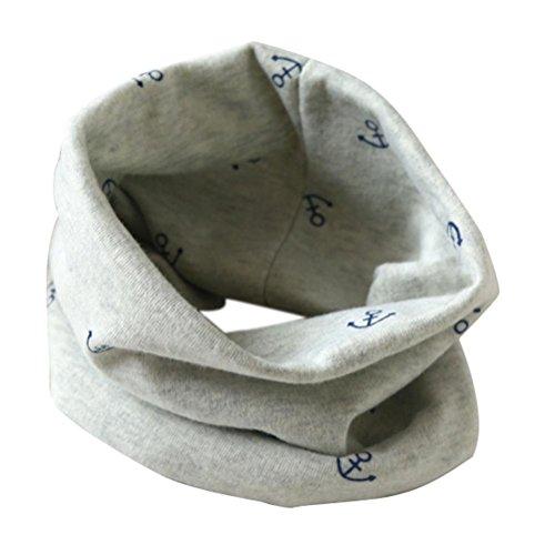 Schals Longra Kinder Jungen und Mädchen Baumwolle Kragen O-Ring Schals (2 bis 10 Jahre alt.) ( 40 * 37cm / 15,7 * 14,5 ) (Gray)
