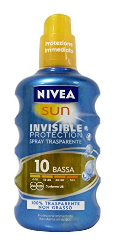 Nivea Set 2 Pezzi Spray Solare Trasparente Spf 10 200 ml cad.
