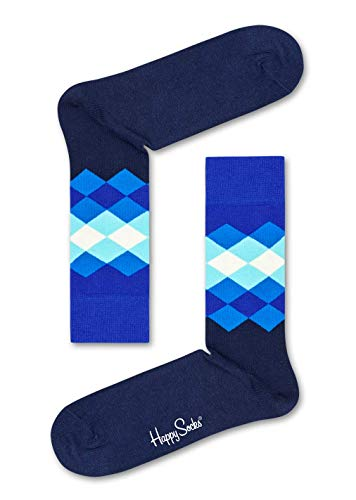 Happy Socks Damen Faded Diamond Socken, Mehrfarbig (Multicolour 630), 4/7 (Herstellergröße: 36-40) (Birthday Suit Happy)