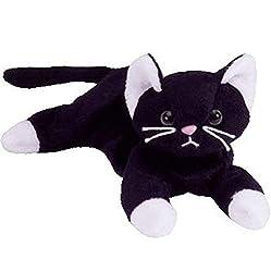 Zip Die Schwarze Katze Plüsch Kleine Gefüllte Tier Sammlung Weiche Puppe Spielzeug mit Herz Tag 10Cm Schwarze Katze