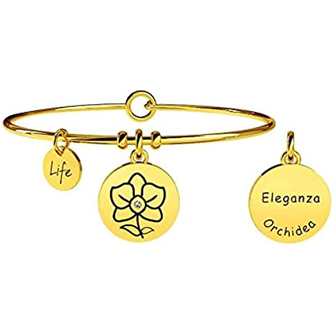 KIDULT LIFE Collection Bracciale in acciaio pvd gold ORCHIDEA 231621
